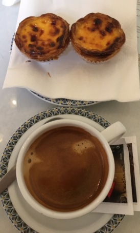Daily coffee and Portuguese Tarts at Casa Da Isabel